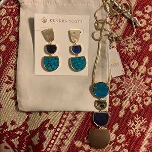 Kendra Scott SET (Earrings + Adjustable Necklace)